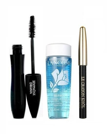 Set Lancome Hypnose Drama Mascara 6 5ml + Bi Facil 30ml + Mini Crayon Khol