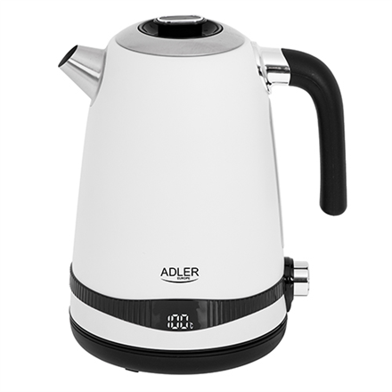 Adler Kettle AD 1295w	 Electric  2200 W  1.7 L  Stainless steel  360° rotational base  White