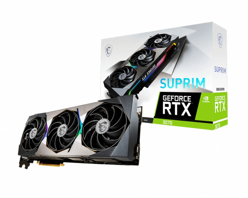 Karta graficzna MSI GeForce RTX 3070 SUPRIM 8GB GDRR6