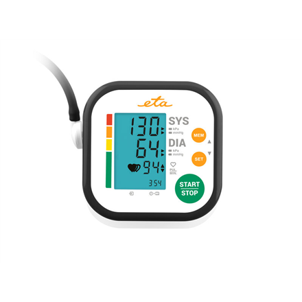 ETA Upper Arm Blood Pressure Monitor ETA229790000 Memory function  Number of users 2 user(s)  Memory capacity 2 x 60 records  Display LCD