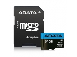 ADATA Premier UHS-I 64 GB  MicroSDXC  Flash memory class 10  Adapter