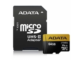 ADATA Premier ONE UHS-II U3 64 GB  MicroSDXC  Flash memory class 10  Adapter