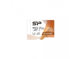 Silicon Power Superior Pro 256 GB  micro SDXC  Flash memory class 10  with Adapter  C10 UHS-I U3  A1  V30