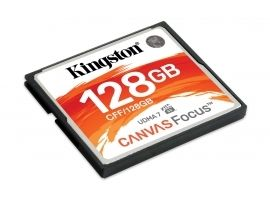 Karta CompactFlash Kingston 128GB CompactFlash Canvas Focus50R 130W