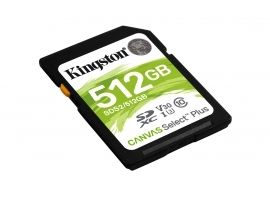 Karta SDXC Kingston 512GB SDXC Canvas Select Plus 100R C10