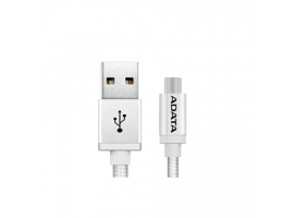 ADATA Sync and Charge Micro USB Cable  USB A  Micro-USB B  1 m  Silver