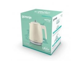 Gorenje Kettle K15RL Electric  2200 W  1.7 L  Plastic and metal  Champagne  360° rotational base