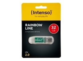 INTENSO 3502480 Intenso pamięć USB RAINBOW LINE TRANSPARENT 32GB