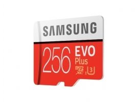 Samsung microSD Card Evo Plus 256 GB  MicroSDXC  Flash memory class 10  SD adapter