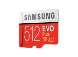 Samsung microSD Card Evo Plus 512 GB  MicroSDXC  Flash memory class 10  SD adapter