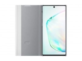 Etui Samsung Clear View do Galaxy Note 10 EF-ZN970CSEGWW srebrny