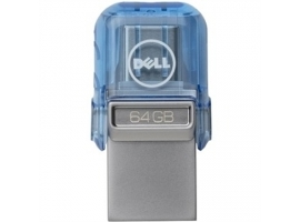 Dell USB A C Combo Flash Drive 32 GB  USB Type-A USB Type-C  Blue