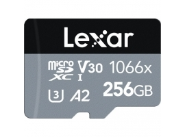 Lexar 256GB Lexar® High-Performance 1066x microSDXC™ UHS-I  up to 160MB s read 70MB s write C10 A2 V30 U3
