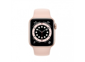 Apple Series 6 GPS Smart watch  GPS (satellite)  LTPO OLED Retina  Touchscreen  Heart rate monitor  Waterproof  Bluetooth  Wi-Fi  Pink
