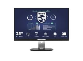 PHILIPS 258B6QUEB 00 Monitor Philips 258B6QUEB 00 25  panel IPS  WQHD  D-Sub DVI