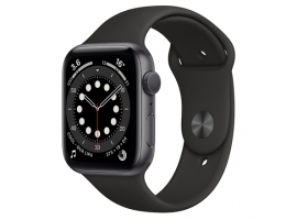 Apple Aluminium Case with Sport Band - Regular Series 6 GPS Smart watch  NFC  GPS (satellite)  LTPO OLED Retina  Touchscreen  Heart rate monitor  Waterproof  Bluetooth  Wi-Fi  Black Gray