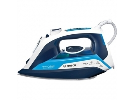 Bosch Steam Iron TDA5024210 2400 W  Water tank capacity 350 ml  Continuous steam 40 g min  Steam boost performance 180 g min  Blue White