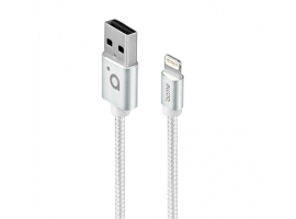 Acme Cable CB2021S 1 m  Silver  Lightning MFI  USB A