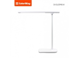 ColorWay LED Table Lamp Portable & Flexible with Built-in Battery White  Table lamp  3 h  5 V  0.5 Ah