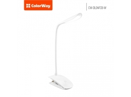 ColorWay LED Table Lamp Flexible & Clip with built-in battery White  Table lamp  3 h  5 V  0.5 Ah