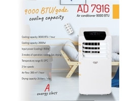 Adler Air conditioner AD 7916 9000 BTU Free standing  Fan  Number of speeds 2  White