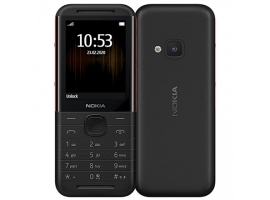 "Nokia 5310 Black Red  2.1 ""  TFT  240 x 320 pixels  8 MB  30 MB  Dual SIM  Mini-SIM  Bluetooth  3.0  USB version microUSB 1.1  Built-in camera  1200 mAh"