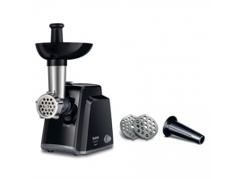 TEFAL Meat mincer NE105838 Black  1400 W  Number of speeds 1  Throughput (kg min) 1.7  The set includes 3 stainless steel sieves for medium or coarse grinding.