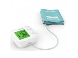 iHealth Track KN-550BT Wireless Bluetooth connection  White Blue  Weight 438 g  Calculation of blood pressure (systolic and diastolic)  Calculation of heart rate  Automatic