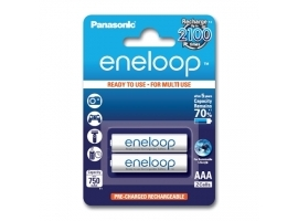 Panasonic eneloop AAA HR03  750 mAh  Rechargeable Batteries Ni-MH  2 pc(s)