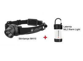 Zestaw Latarka Ledlenser MH10 Black edition + Ledlenser ML2 Warm Light