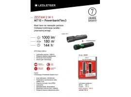 Zestaw Latarka Ledlenser MT10 Black edition + Powerbank FLEX3 Travel 3400mAh
