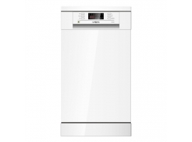 Goddess Dishwasher GODDFE947DW9NE Free standing  Width 45 cm  Number of place settings 9  Number of programs 6  Energy efficiency class E  Display  White