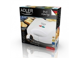 Adler Sandwich maker AD 301 750  W  Number of plates 1  Number of pastry 2  White