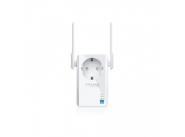 TP-LINK Extender with AC Passthrough TL-WA860RE 10 100 Mbit s  Ethernet LAN (RJ-45) ports 1  802.11n  2.4GHz  Wi-Fi data rate (max) 300 Mbit s  Extra socket Yes