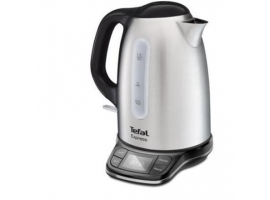 TEFAL Kettle KI240D30 With electronic control  2400 W  1.7 L  Stainless Steel  Stainless Steel  360° rotational base