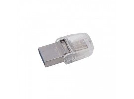 Kingston DataTraveler microDuo 3C 32 GB  USB 3.0 3.1 + Type-C  Metal Transparent