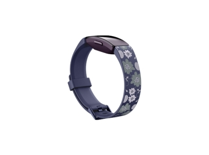 Fitbit Inspire Print Accessory Band  small  bloom