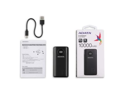 ADATA AP10000QCD Power Bank Black Li-ion battery 10000mAh
