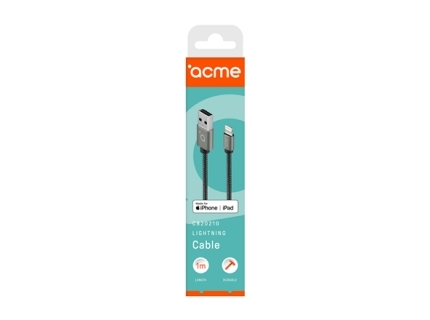 Acme Cable CB2021G 1 m  Space Gray  Lightning MFI  USB A