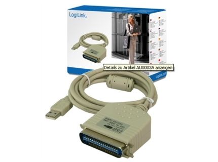 Logilink USB 2.0 to paralel (LPT) adapter: IEEE1248  USB 2.0 A